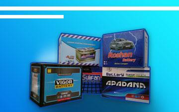محصولات شرکت آذرباتری