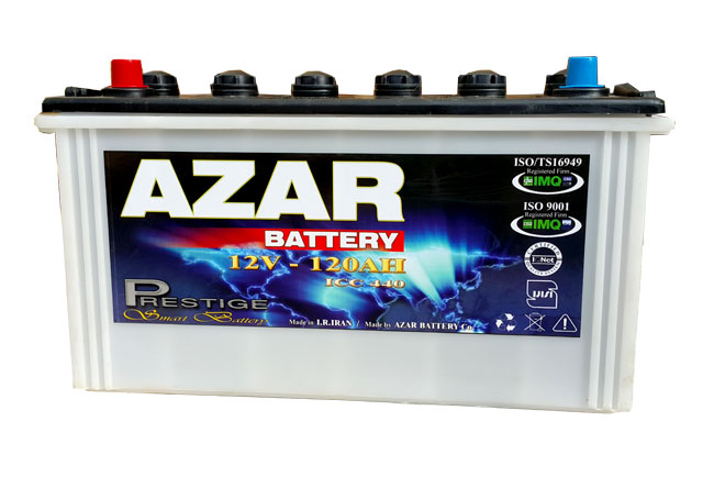 باتری آذر 12v 120 AH