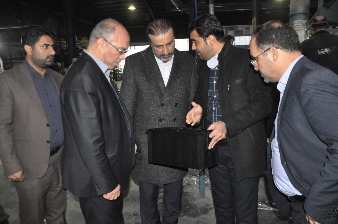 گزارش تصویری بازدید معاون امور اقتصادی استاندار آذربایجان غربی از کارخانه اذرباتری